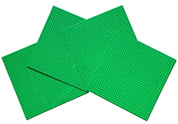 Large Dots Base plate compatible 15/'/' X 10/'/' 24 x 17 studs Dark Green Papi Max
