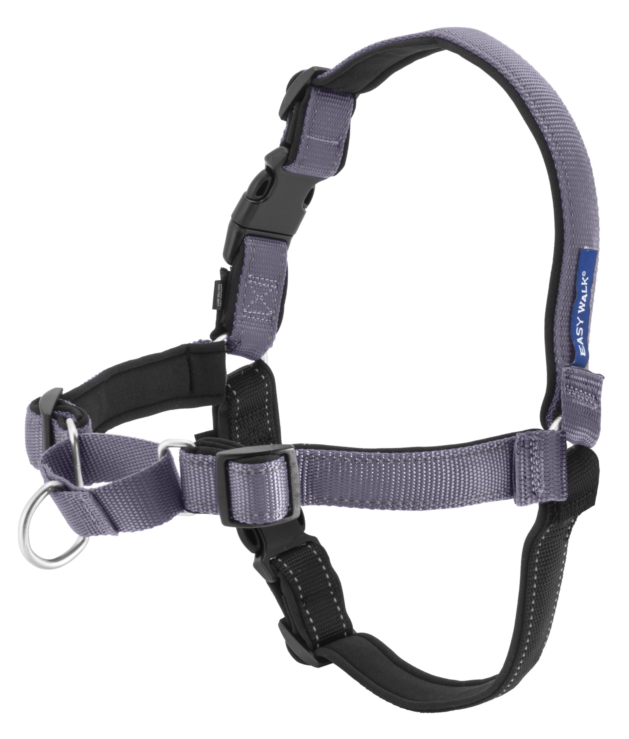 PetSafe Deluxe Easy Walk Harness, Medium/Large, Steel Gray