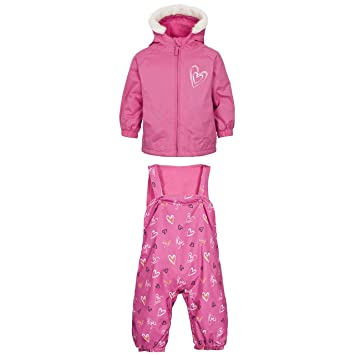 195e93a8346c Trespass Baby Girls Hurrah Waterproof Snow Suit (12 18 Months ...