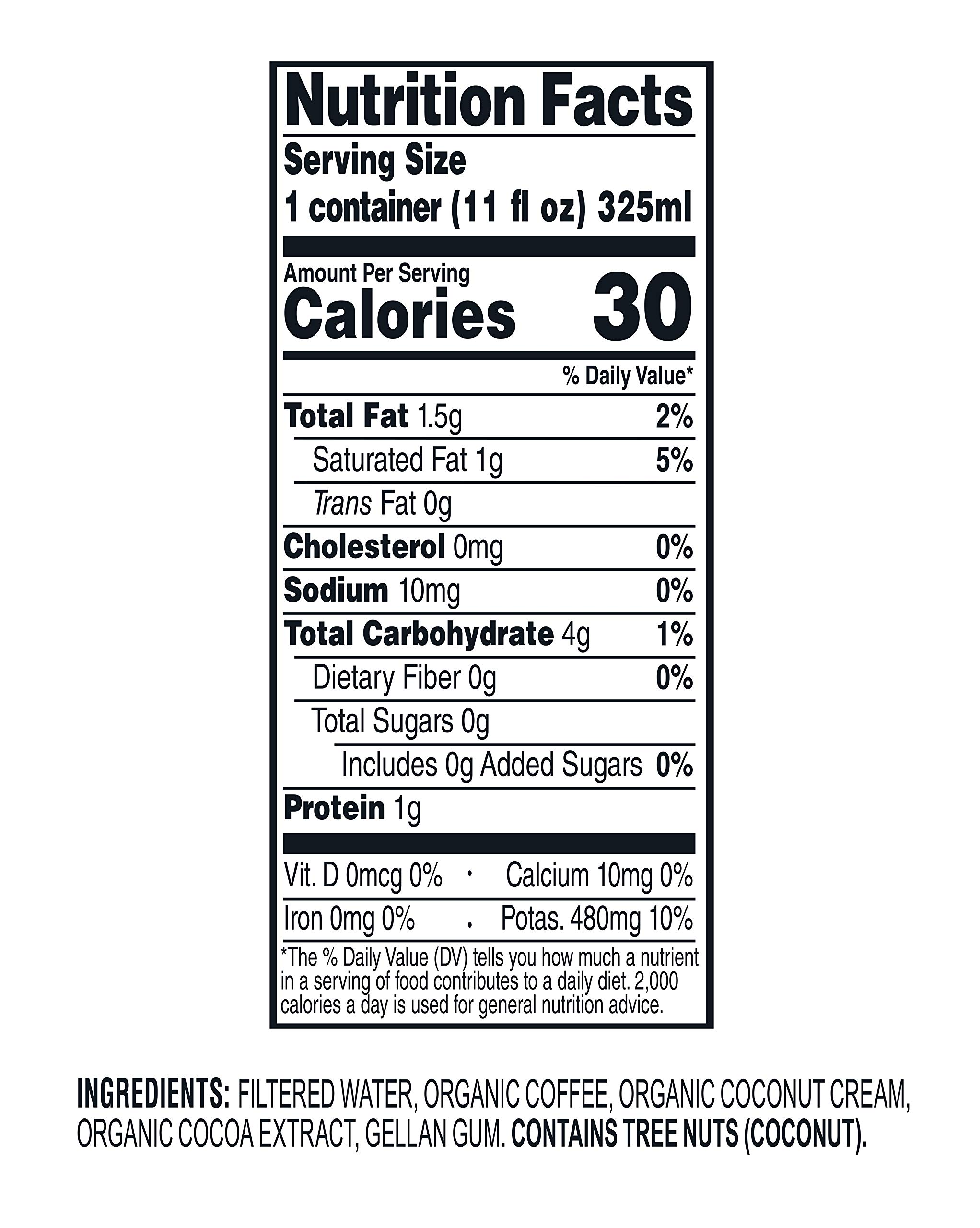 Wandering Bear Organic Cold Brew Coffee On-the-Go 11 oz Carton, Mocha With Splash of Coconut Milk, No Sugar, Ready to Drink, Not a Concentrate (Pack of 12) by Wandering Bear (Image #8)