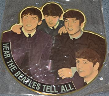 HEAR THE BEATLES TELL ALL UNIQUE SHAPED PICTURE DISC LP VEE