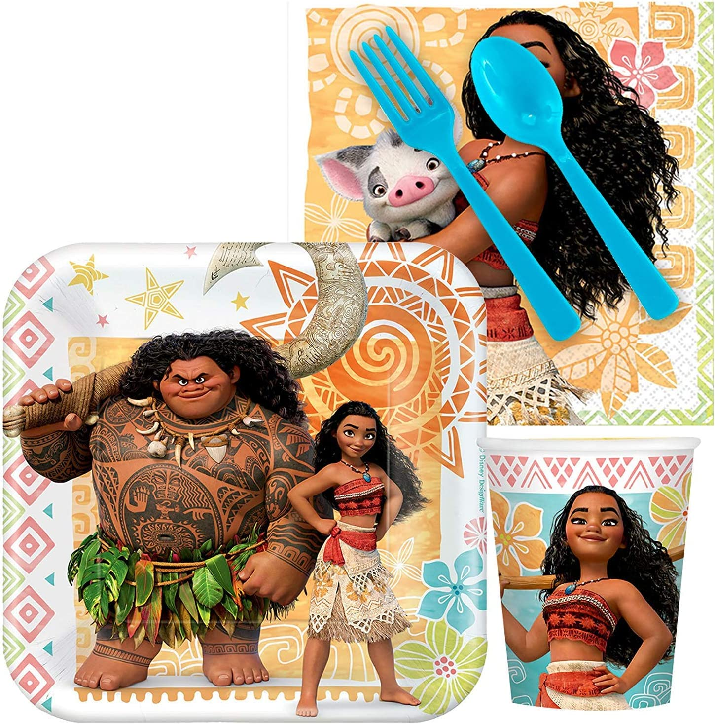 BirthdayExpress Disney Moana Party Supplies Snack Party Pack 8