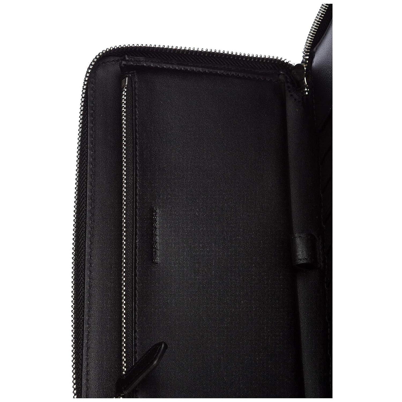 d08d0ecbe5ee Burberry portefeuille porte-monnaie homme deux plis london check zip around  noir  Amazon.fr  Vêtements et accessoires