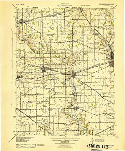 1:62500 Scale 1935 YellowMaps Covington LA topo map Updated 1951 Historical 20.8 x 17.9 in 15 X 15 Minute