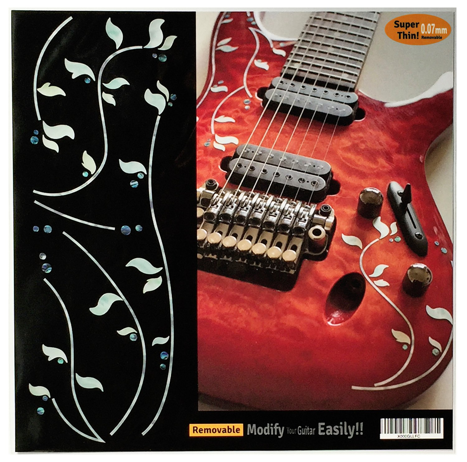 Amazon com inlay sticker decals for guitar bass j custom vine musical instruments