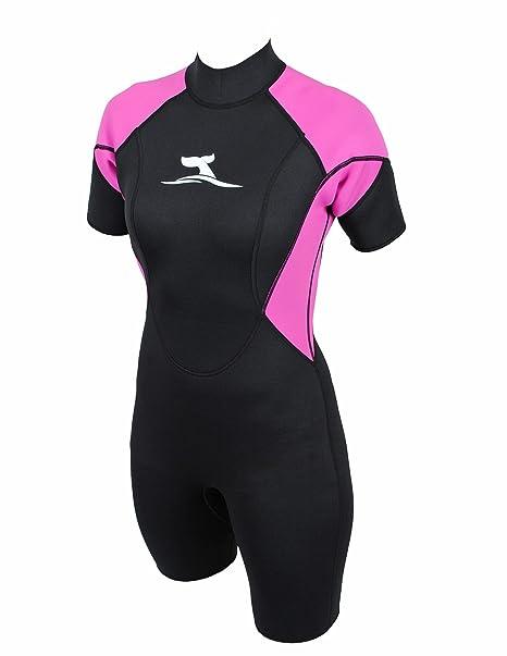 Traje de surf corto para mujer super stretch talla M/38 neopreno 2 ...