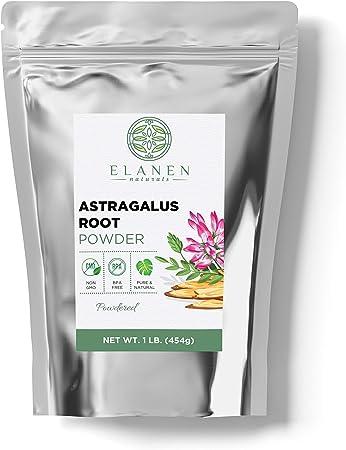 Astragalus Powder 16 oz. (1 lb. Bag), Contains Organic Non-GMO Astragalus Root Powder in Non-BPA Packaging, Organic Astragalus, Astragalus Root Organic, Astragalus Membranaceus, Powdered