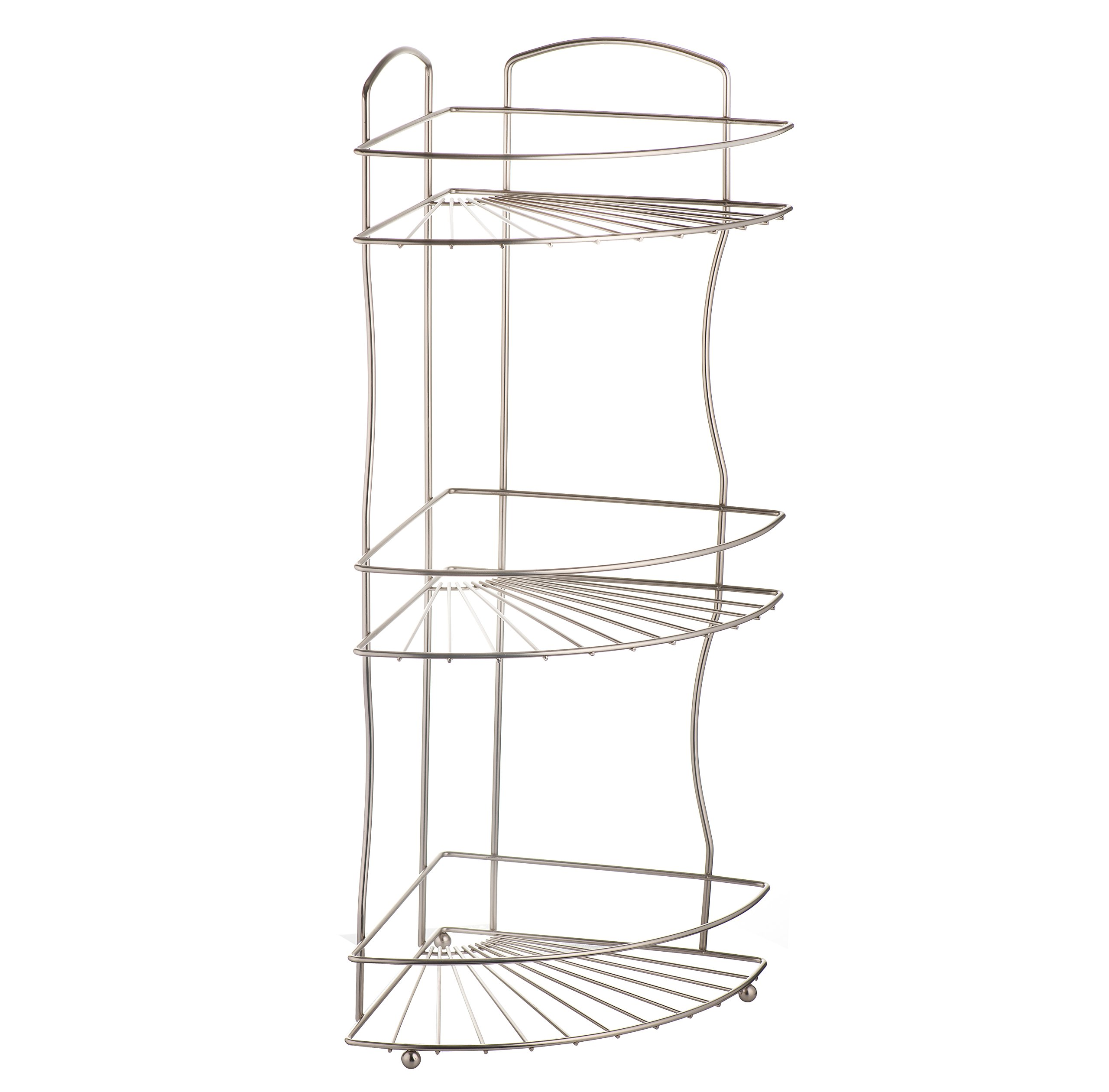 AMG and Enchante Accessories Free Standing Bathroom Spa Tower Floor Caddy, FC232-A SNI, Satin Nickel by AMG (Image #6)