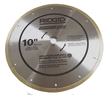 "Ridgid 10"" Diamond Edge High Performance Tile Blade"
