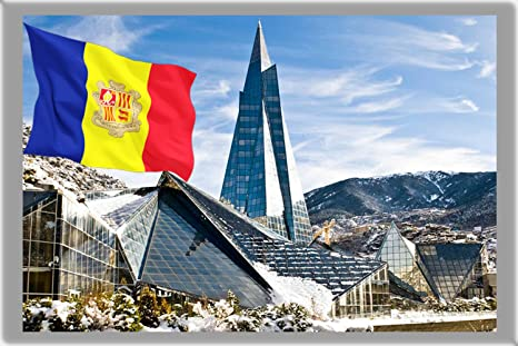 ANDORRA LA VELLA FRIDGE MAGNET, THE CAPITAL CITY OF ANDORRA CALAMITA DA FRIGO