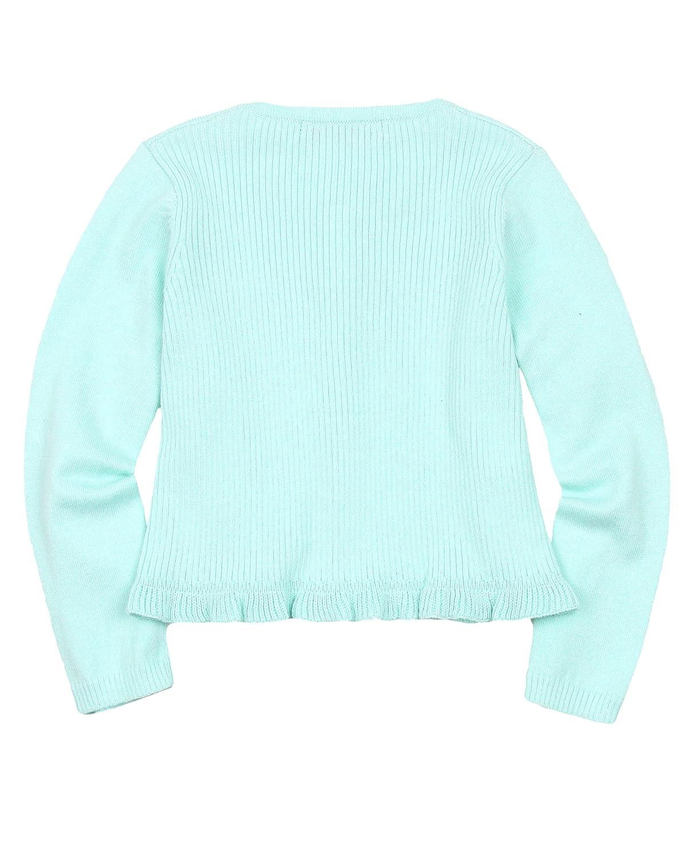 Sizes 2-9 Mayoral Girls Rib Knit Cardigan Mint