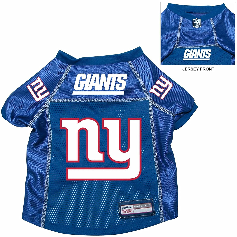 reputable site 90712 b9a5f New York Giants Pet Dog Football Jersey Alt. Blue LARGE
