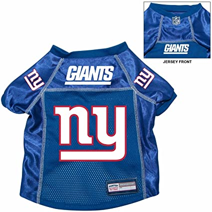 reputable site 521e3 eb61f New York Giants Pet Dog Football Jersey Alt. Blue LARGE