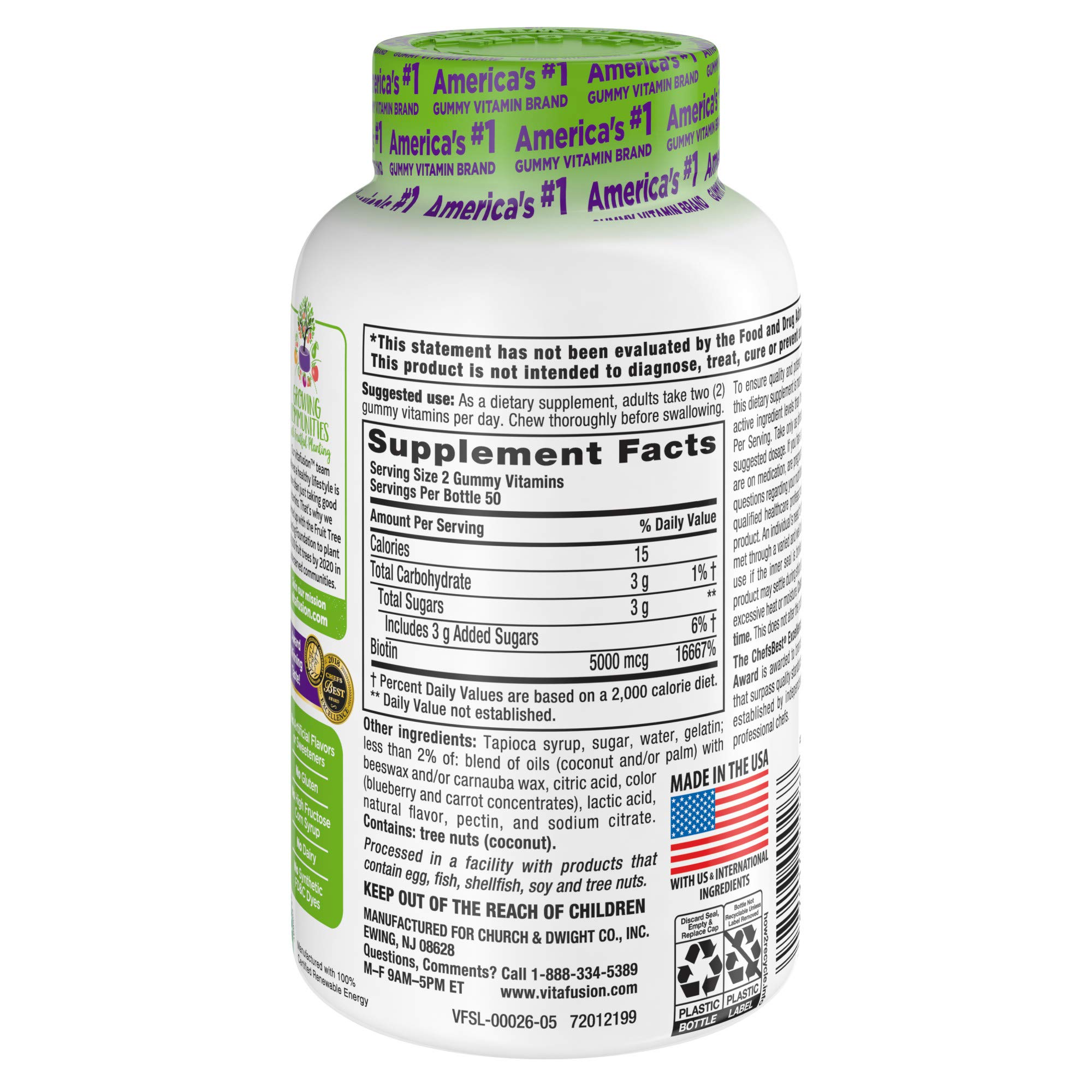 Vitafusion Extra Strength Biotin Gummies