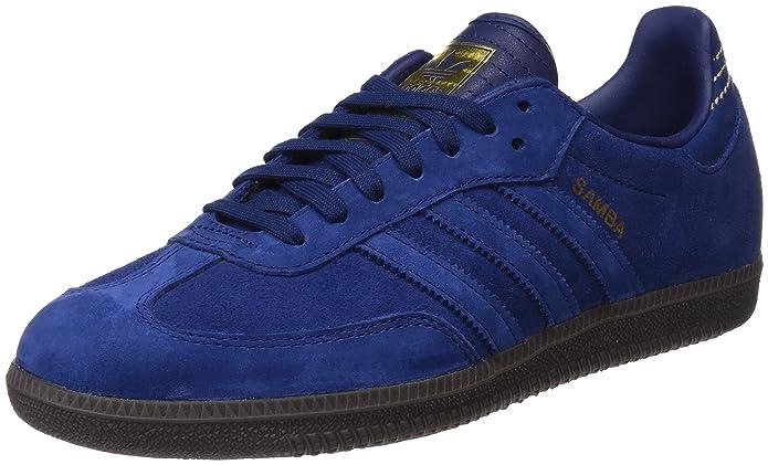 adidas Samba Schuhe Herren blau (azuosc) mitblauen Streifen