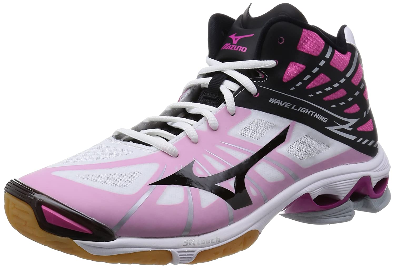 Pink And Black Mizuno Volleyball Shoes