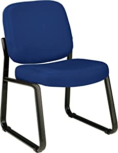 OFM Core Collection Armless Fabric Guest and Reception Chair, in Navy