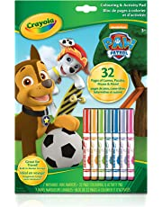 Crayola Paw Patrol Colouring Pad & Markers, Gift for Boys and Girls, Kids, Ages 3,4, 5, 6 and Up, Summer Travel, Cottage, Camping, on-the-go,  Travel, Arts and Crafts,  Gifting