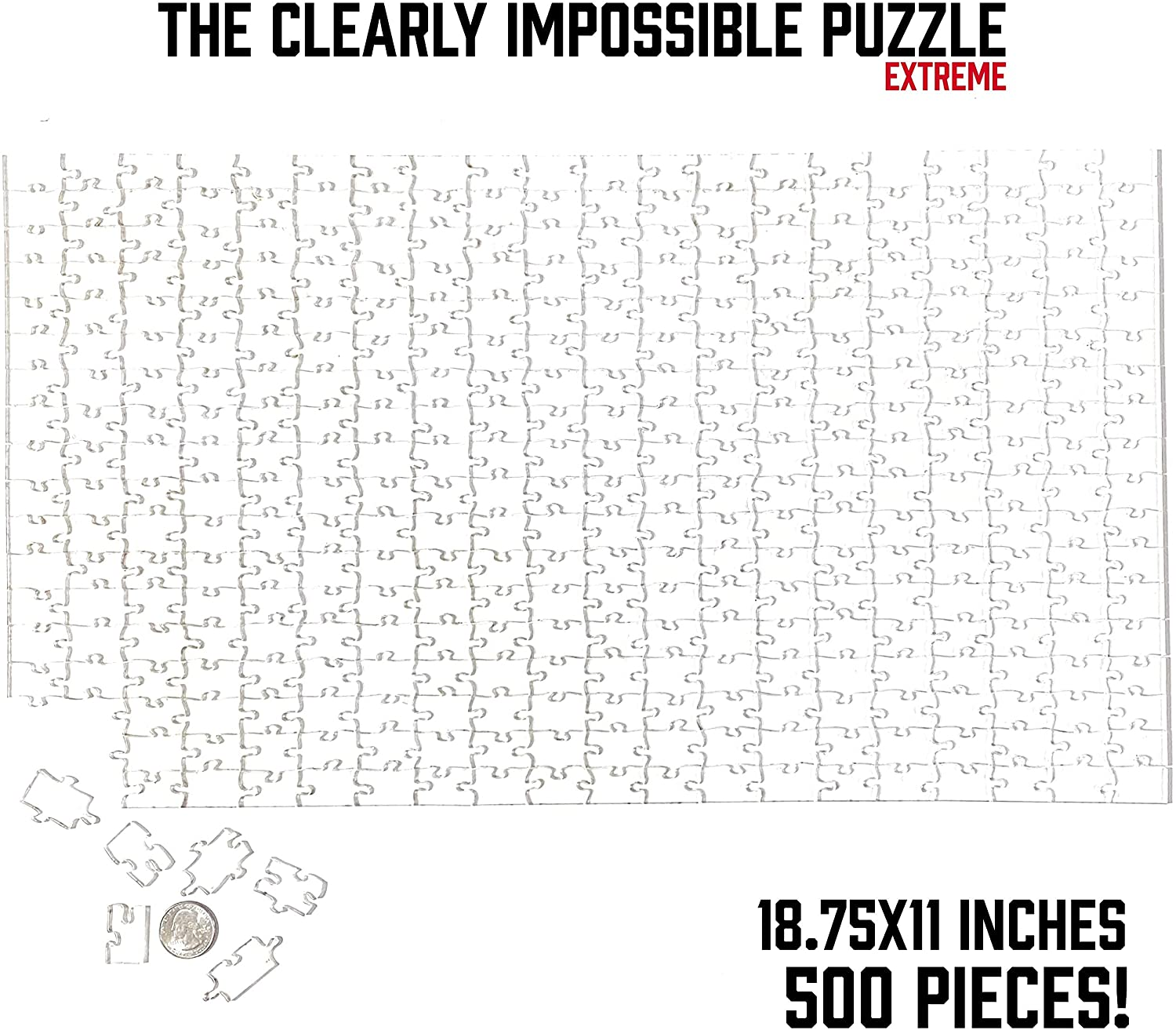 100 Pieces Very Difficult and Fun! Clear Difficult Puzzle Waterproof! Clear Acrylic