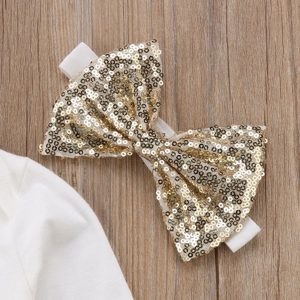 Newborn Baby Girl Thanksgiving Outfit Long Sleeve Bodysuit+Bowkont Tutu Skirt+Leg Warmers+Headband 4Pcs Clothes Set