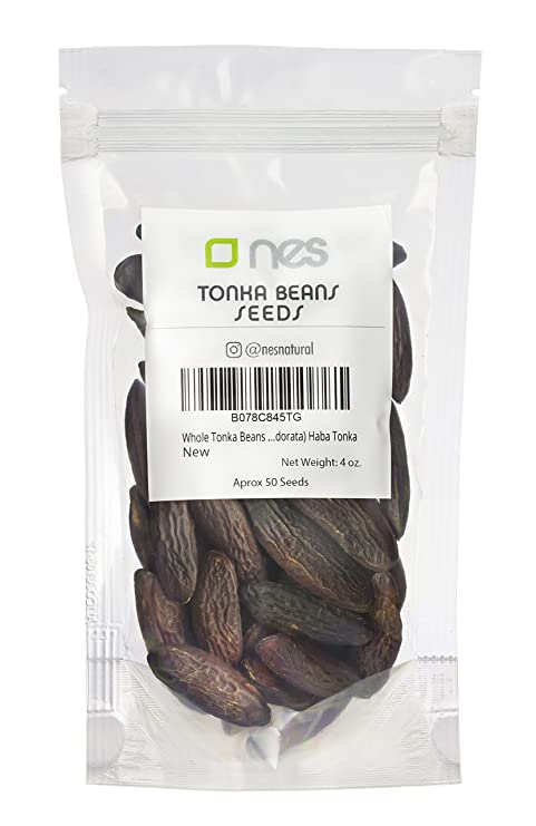 NES NATURAL | Tonka Beans Enteras 4 Oz – 120 gr | Semilla Vainilla Cumaru |