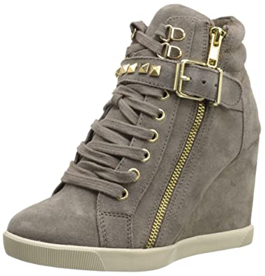 063e1c1649b Steve Madden Women S Obsess Wedge Sandal 10.0 M Us Taupe Suede ...