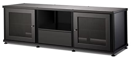 Salamander Synergy 236 A/V Cabinet W/ Two Doors U0026 Media Drawer (Black