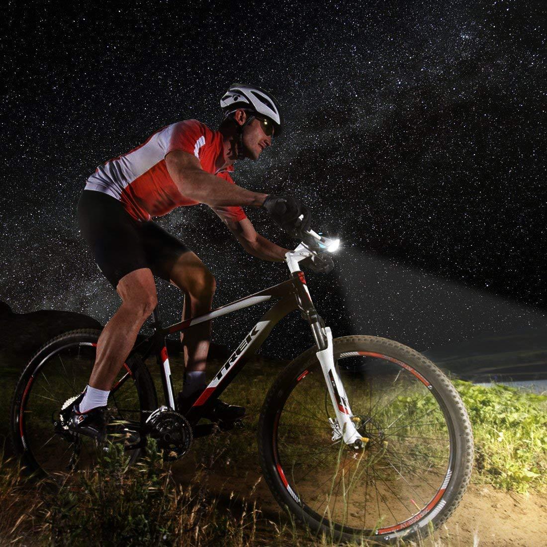 SLCSL Bicicleta luz lautes Bicicleta luz, wiederaufladbares ...