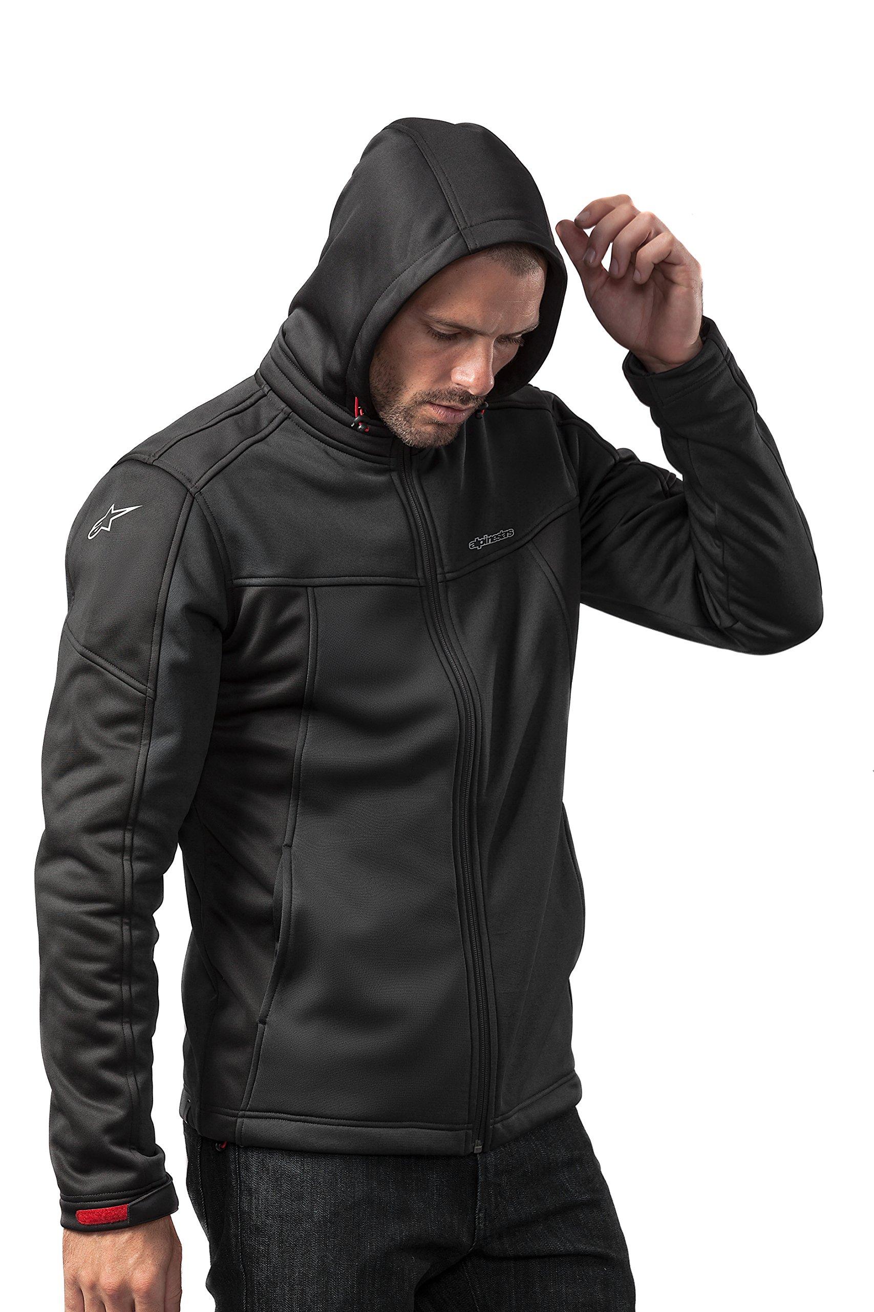Alpinestars Men's Modern Fit Stretch Removable Hood Bunjie Adjusters Tech Bonded Micro Fleece, Stratified Black, L by Alpinestars