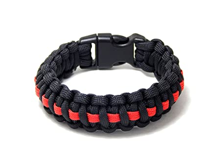 Thin Blue Line Usa Flag Police Paracord Bracelet Support Lives Thin Red Line Us America Flag Paracord Survival Armband Bangle Home & Garden