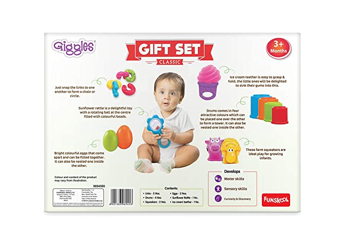 Giggles Baby Gift Set - Teether, Rattles and Much More