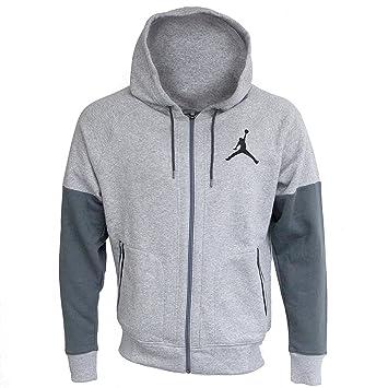 e595cde0fe Jordan Nike pour Homme Varsity Polaire Full Sweat à Capuche zippé Gris  chiné/Anthracite SZ