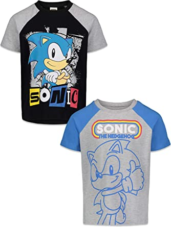 Kids Baby Boys Girl Cartoon Sonic The Hedgeh T-shirt Cotton Tops Blouse Clothes