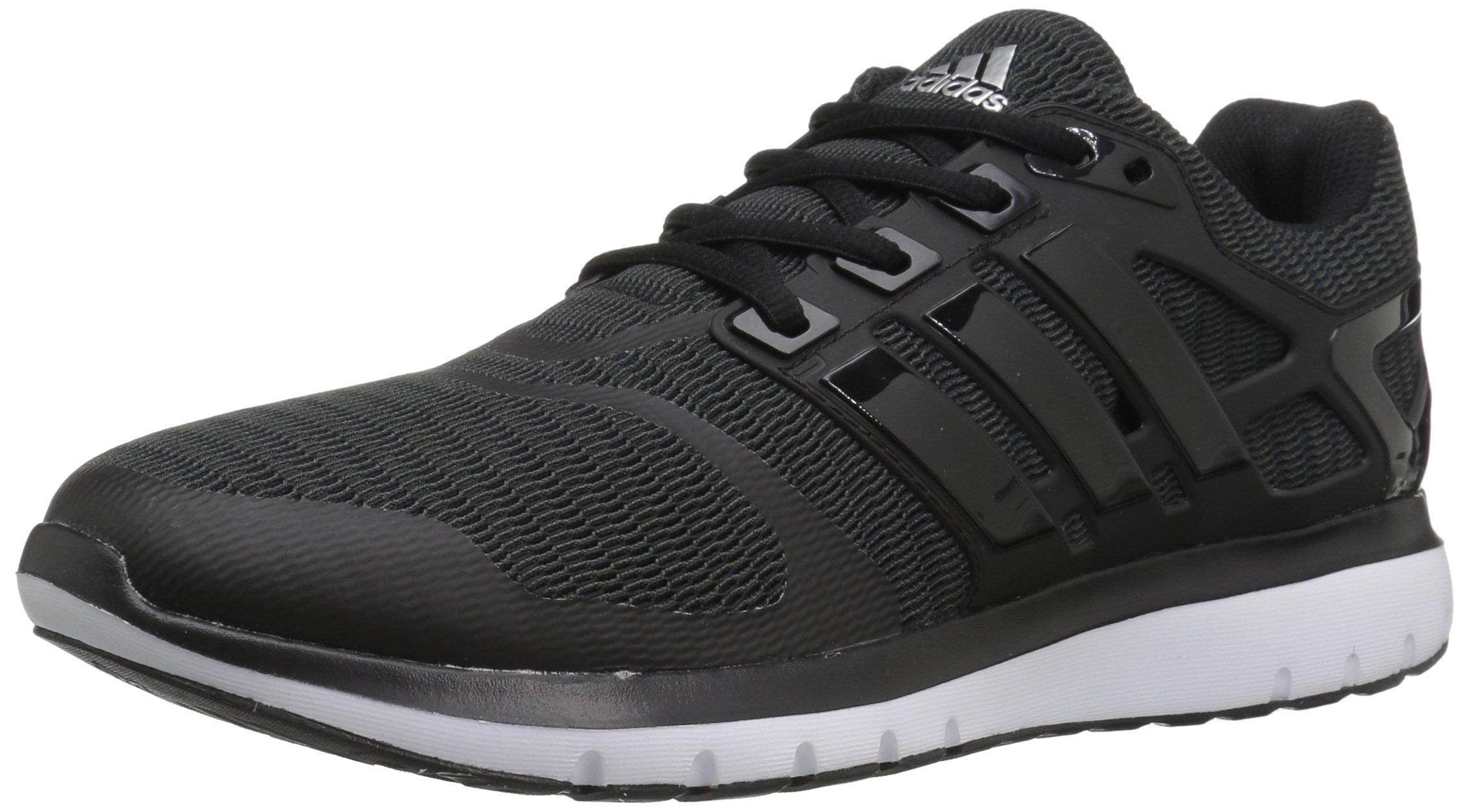 adidas Women's Energy Cloud V Running Shoe, Black/Black/Dark Grey Heather, 9 M US