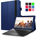 AVIDET Lenovo Miix 310 Hülle Case Etui Tasche, Ledertasche Schutzhülle Bumper Hüllen Tasche Leder Hülle Ultra Slim Lederhülle Flip Case Etui für Lenovo Miix 310 (Blau)