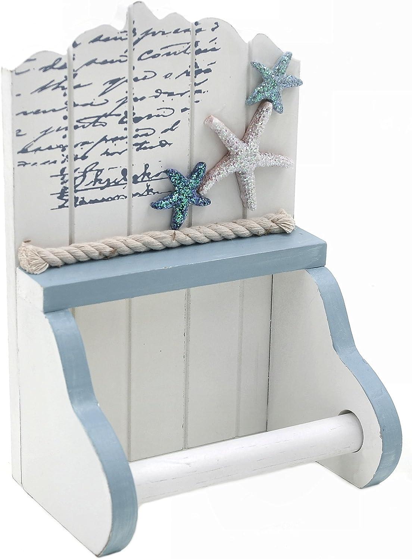Toilet / Loo Paper Roll Holder - Nautical, Seaside theme - Starfish