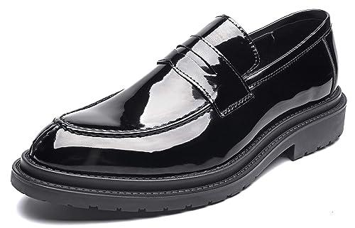 NXY de los Hombres Casual Plano Mocasines Oxfords de Cuero Zapatos de Vestir Moda Ponerse Zapatos de conducción: Amazon.es: Zapatos y complementos