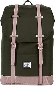 Herschel Retreat Backpack, Forest Night/Ash Rose, Mid-Volume 14.0L, Retreat Backpack