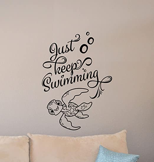 com just keep swimming wall decal finding nemo turtle