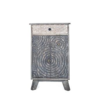 ludsi living ellipse meuble 2 porte1 tiroir bois 50 x 40 x