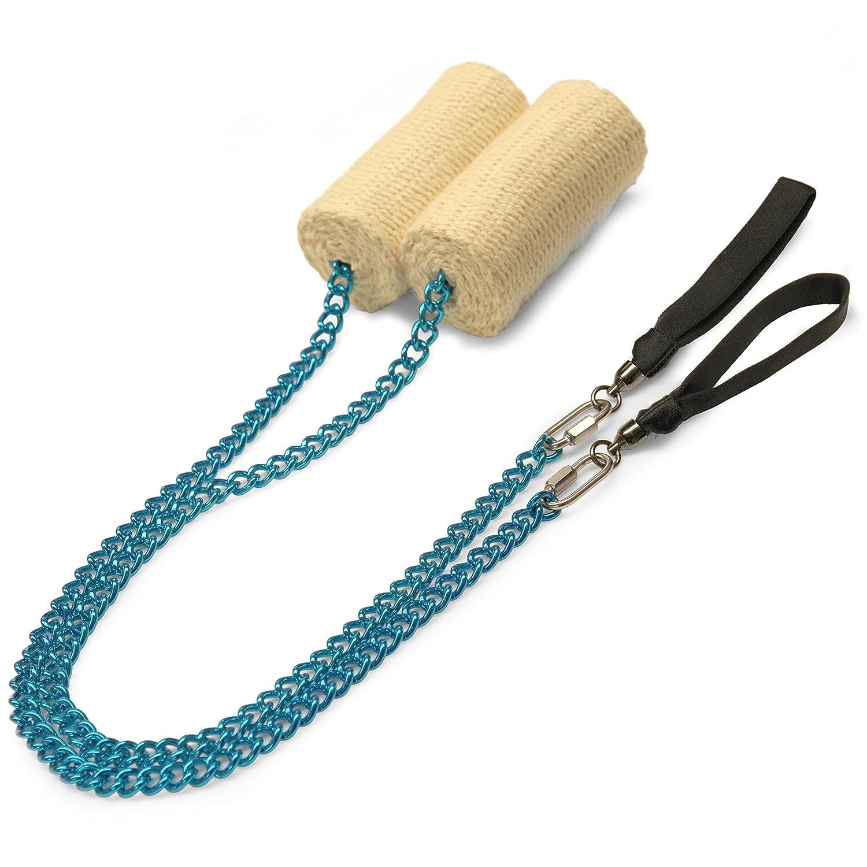 ペアの4インチWekaオーバルツイストチェーンFire Poi B01MEEH9SG Blue Chain M - 26 inch (66cm)