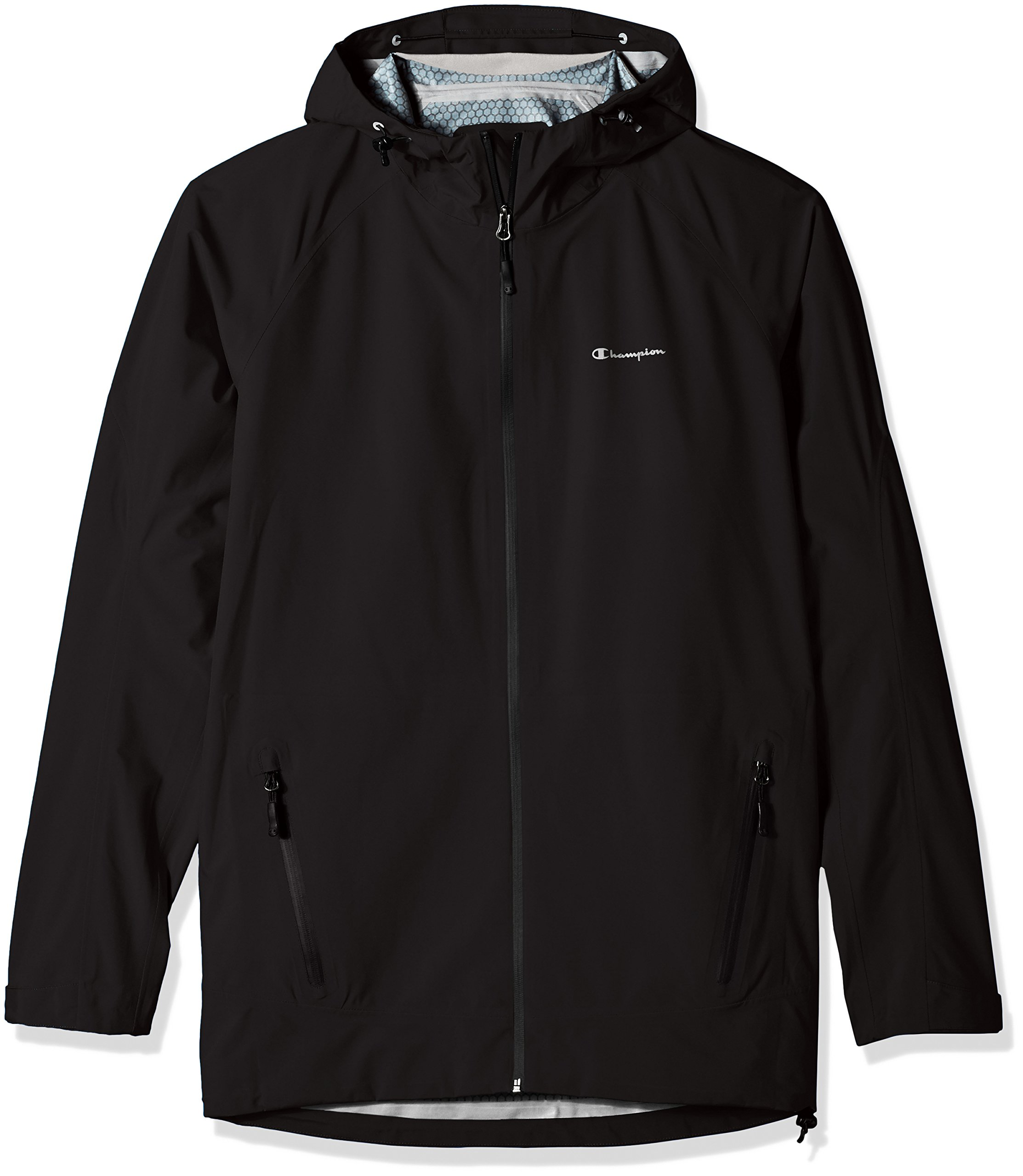 Champion Men's Tall Size Stretch Waterproof Rain Jacket, Black, XX-Large