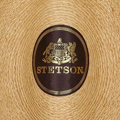 Stetson Renton Raffia Straw Hat Summer Beach (L (58-59 cm) - Nature)   Amazon.co.uk  Clothing 632a6cfa94b5