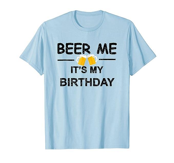 Mens Beer Me Its My Birthday T Shirt Emoji Gifts Tee 2XL Baby Blue