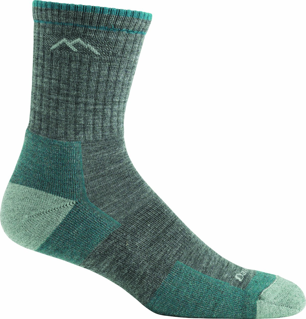 Darn Tough Vermont (1903) Women's Merino Wool Micro Crew Cushion Socks, Slate, Medium by Darn Tough