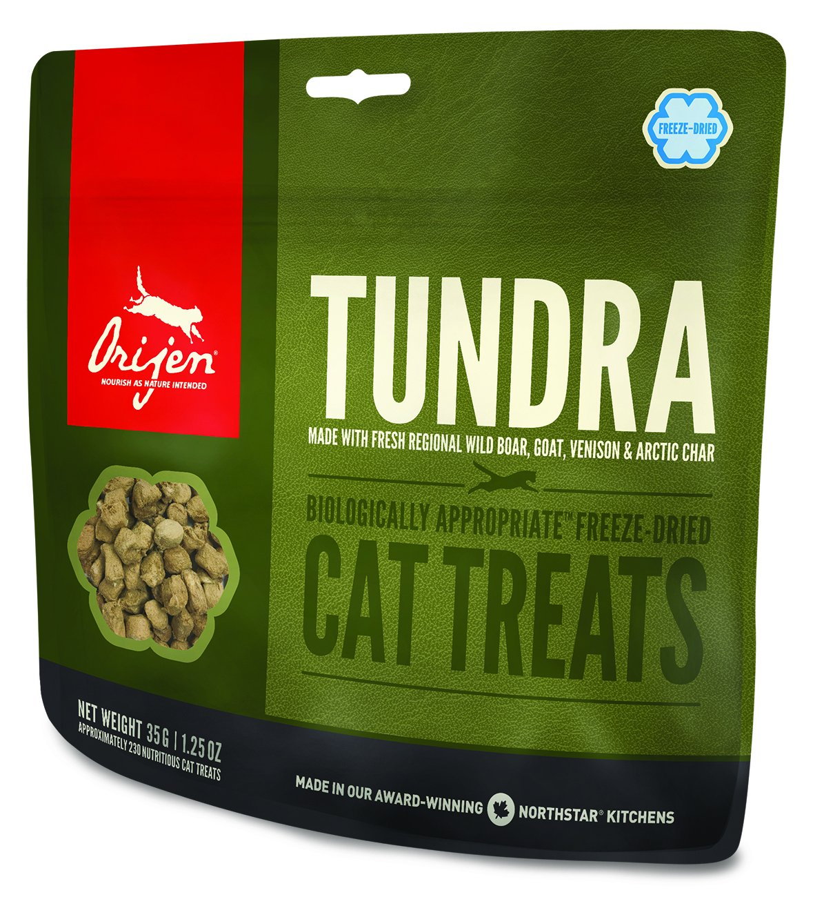 Orijen Tundra Freeze Dried Cat Treats 1.25 Ounces by Orijen