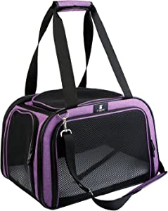 X-ZONE PET Pet Carrier for Dog and Cats, Airline Approved Soft-Sided Pet Travel Carrier,Portable Kennel for Puppies …