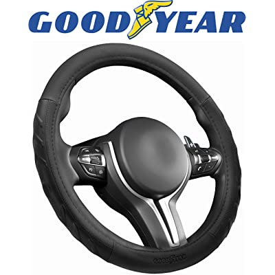 "Goodyear Black Arrow Grip GY1396 Performance Steering Wheel Cover Non-Slip High Universal Fit 14.5""-15.5"" Sport Design: Automotive"