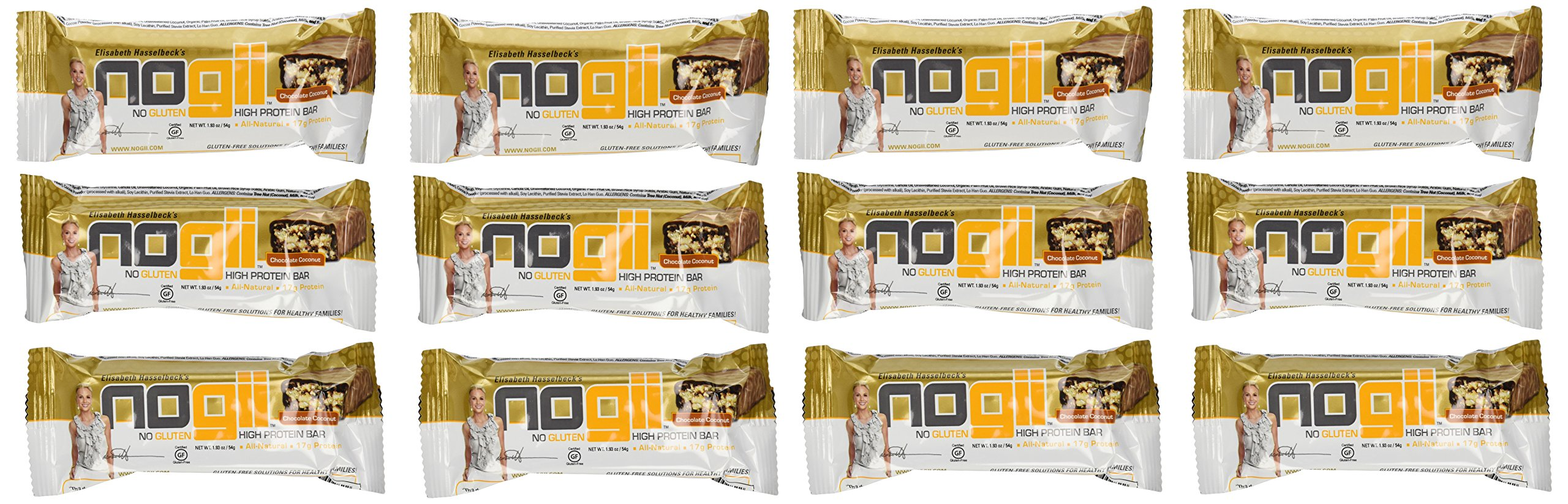 NoGii High Protein Nutritional Bar, Chocolate Coconut, 1.93 Ounce Bars, 12 Count by NoGii (Image #1)