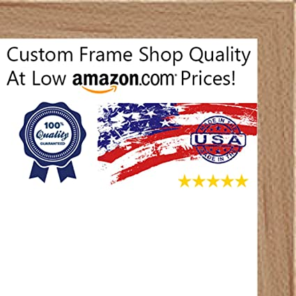 Amazon.com - 24x36 Contemporary Natural Wood Canvas Floater Frame ...